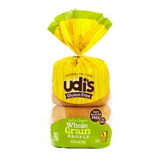 Udi's Gluten Free Whole Grain Bagels 14 oz (2 Pack)