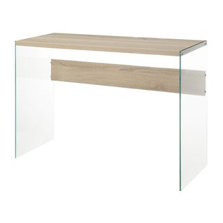 Convenience Concepts Soho Wood Glass Console Table
