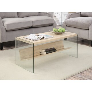 Convenience Concepts Soho Wood Glass Coffee Table (2 options available)