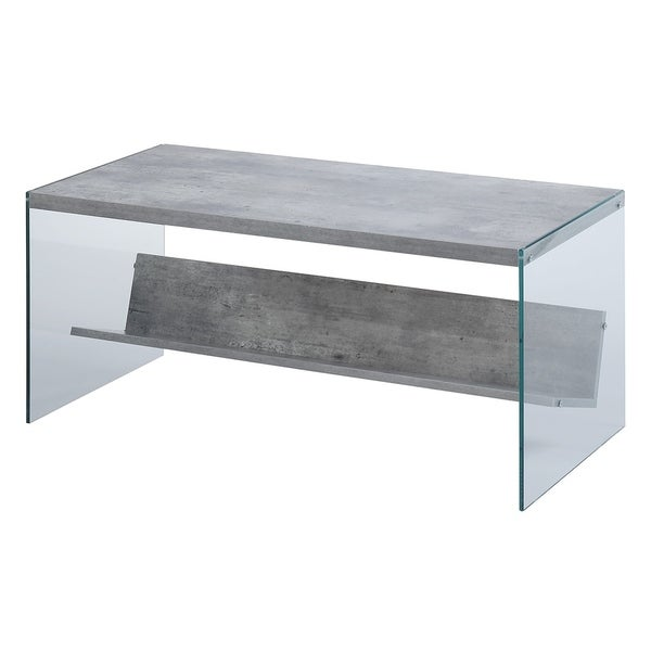 Convenience Concepts Soho Wood Glass Coffee Table   Free Shipping Today    Overstock.com   19143594