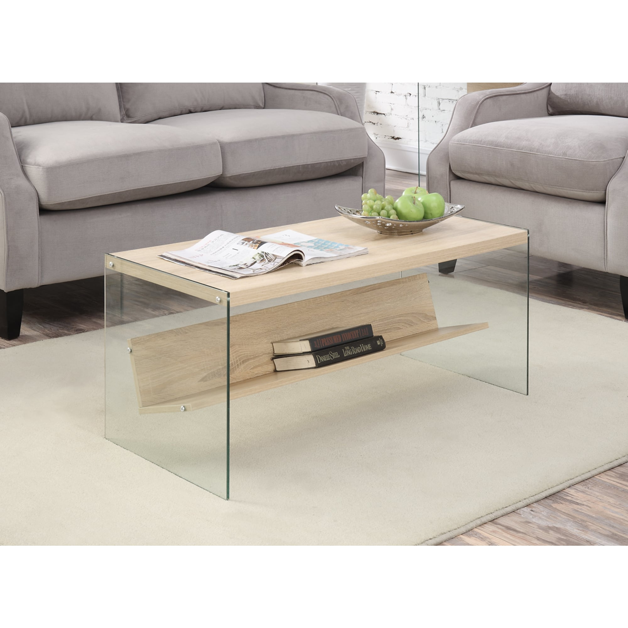 Convenience Concepts Soho Wood Glass Coffee Table - Free Shipping On ...