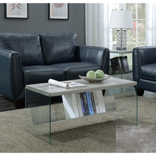 Thumbnail 1, Convenience Concepts Soho Wood Glass Coffee Table.
