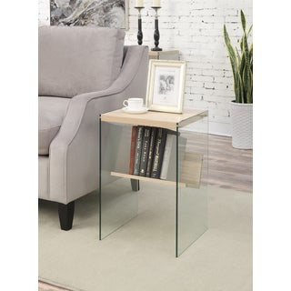 Convenience Concepts Soho Glass Wood End Table