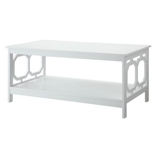 Convenience Concepts Omega Coffee Table in Black or White (Option: White)