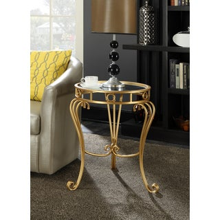 Convenience Concepts Gold Coast Julia Decorative Mirrored Goldtone End Table