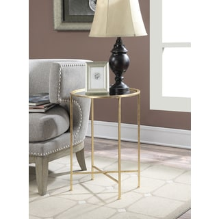 Convenience Concepts Gold Coast Julia Mirrored End Table