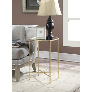 Silver Orchid Grant Mirrored End Table