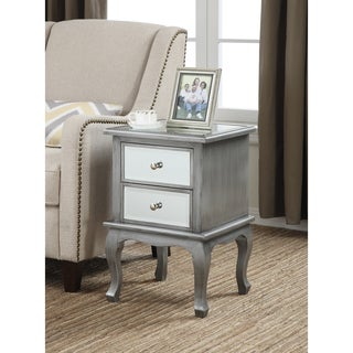 Convenience Concepts Gold Coast Mirrored 2-Drawer End Table
