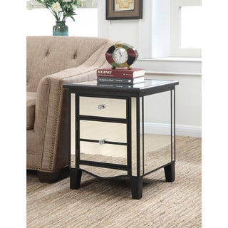 Gold Coast Park Lane Mirrored End Table In Black, Gold, or Silver