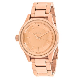 Nixon Women's A409-897 Facet 38 Round Rose Gold dial Stainsless steel Bracelet Watch