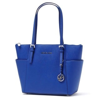 Michael Kors Jet Set East West Electirc Blue Top Zip Tote Bag