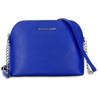 Michael Kors 'Cindy' Large Electric-blue Dome Crossbody Handbag