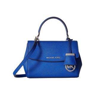 Michael Kors Ava Electric Blue Leather Extra Small Crossbody Handbag