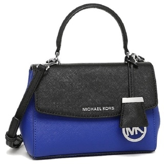 Michael Kors Ava Electric Blue/Black Saffiano Leather Extra-small Crossbody Handbag