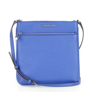 Michael Kors Riley Electric Blue Small Flat Crossbody Handbag