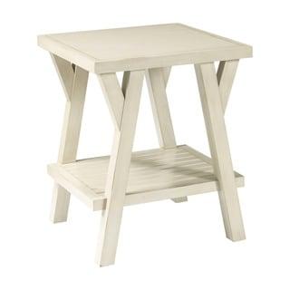 Broyhill New Vintage White Splay Leg End Table