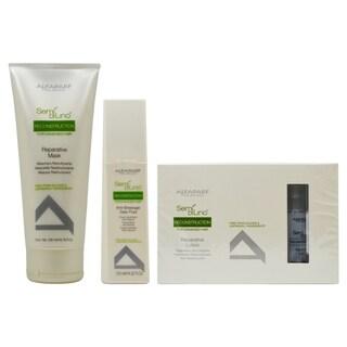 Alfaparf Semi Di Lino Reconstruction Treatment 3-Piece Haircare Sets
