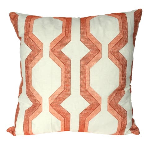 A&B Home Coral Cotton 18-inch Throw Pillow