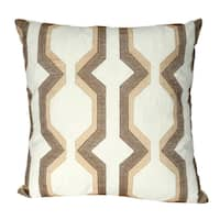 Multicolored Cotton 18-inch x 18-inch Throw Pillow