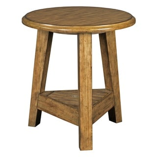Broyhill New Vintage Brown Round Lamp Table