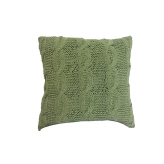 18-inch x 18-inch Cable-knit Throw Pillow