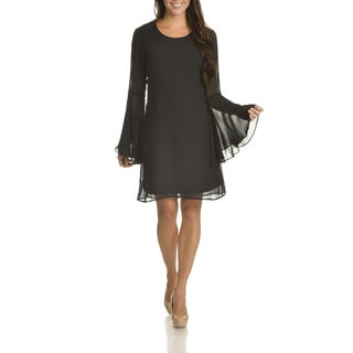 Sharagano Women's Bell-sleeve Shift Dress