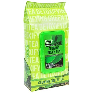 Jean Pierre Pure and Simple Glowing Green Tea 60-count Detoxifying Facial Towelettes
