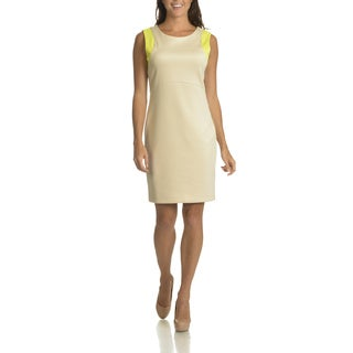 Sharagano Women's 2 Tone with Cut Out Detail Sheath Dress