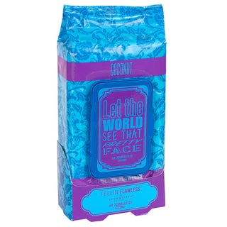 Jean Pierre Let the World See That Pretty Face Coconut 60-count Facial Towelettes