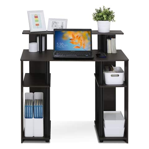 Porch & Den Walnut Finish Computer Writing Desk