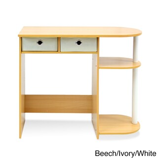 Porch & Den East Village Baruch Laptop and Notebook Computer Desk (Option: N/A - Beige - Eco-Friendly/Drawers/Includes Hardware - MDF - Beige Finish)