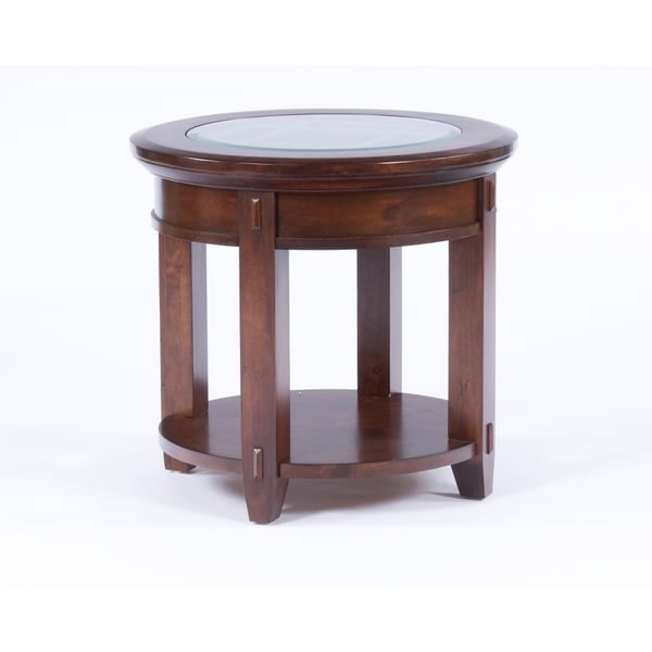 Shop Broyhill Vantana Wood Round End Table