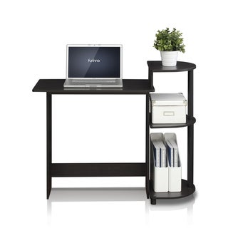 Porch & Den East Village Baruch Compact Modern Wood Computer Desk with Shelves