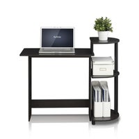 Shop Modular Black Wood and Metal Computer Desk with Keyboard Tray ...
