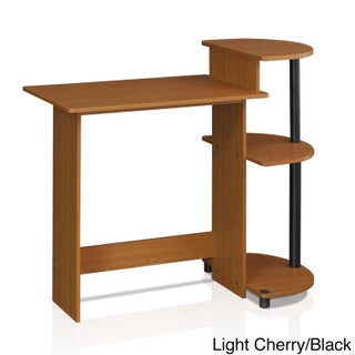 Porch & Den East Village Baruch Compact Modern Wood Computer Desk with Shelves (5 options available)