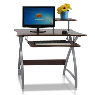 Furinno FNBL-22005 Besi New Office Computer Desk, Dark Wood Grain