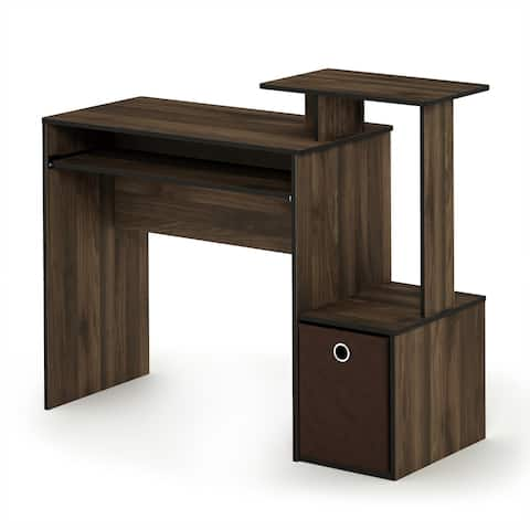 Multipurpose Black/Brown Home Office Computer Writing Desk WIth Bin