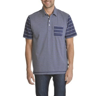 Caribbean Joe Men's Soft 3-button Cotton Pocket Polo