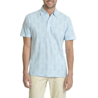 Caribbean Joe Men's Printed Performance Tech Polo