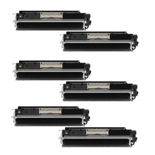 6PK Compatible CE310A Toner Cartridge For HP 126A CE310 CE310A CP1020 ( Pack of 6 )