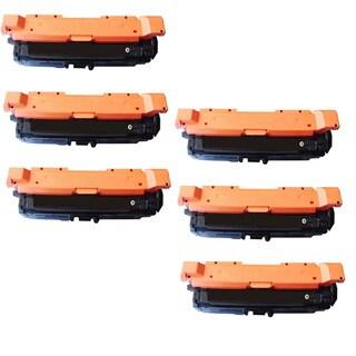 6PK Compatible CE260A Toner Cartridge For HP Color LaserJet HP 4525 4025 Printer ( Pack of 6 )