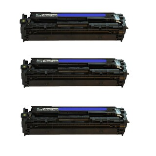 3PK Compatible CB541A Toner Cartridge For HP Color LaserJet CM1312 MFP CM1321nfi CP1215 CP1515n CP1518ni ( Pack of 3 )