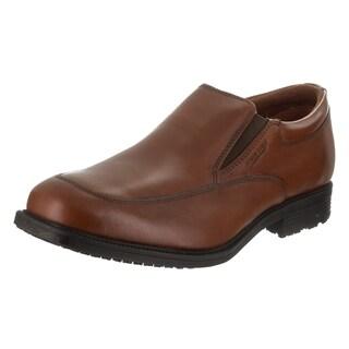 Men's Rockport Essential Details Waterproof Slip On Tan Antique Leather