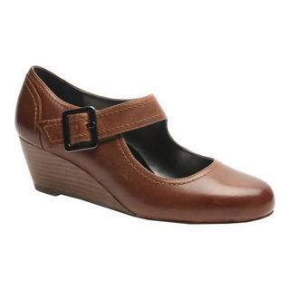 Women's Ros Hommerson Havana Mary Jane Wedge Coffee Leather