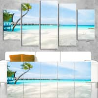 Tropical Maldives Island - Seashore Canvas Wall Artwork