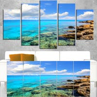 Bright Summer Day in Sea - Seashore Canvas Wall Artwork