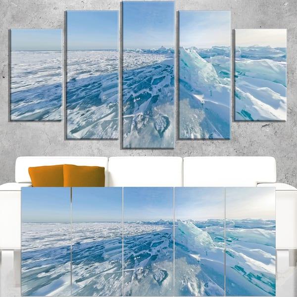 Shop Ice Hummocks In Lake Baikal Siberia Landscape Artwork Canvas Blue On Sale Overstock 12310214