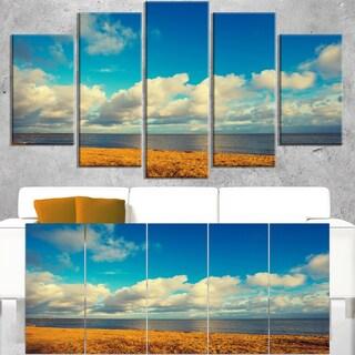Deserted Brown Sea Coastline - Landscape Artwork Canvas