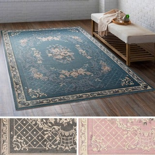 Meticulously Woven Los Polyester Rug (4' x 6') - Thumbnail 0