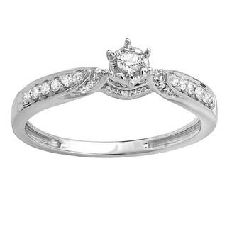14k White Gold 1/5ct TDW Round Diamond Bridal Promise Engagement Ring (H-I, I1-I2)